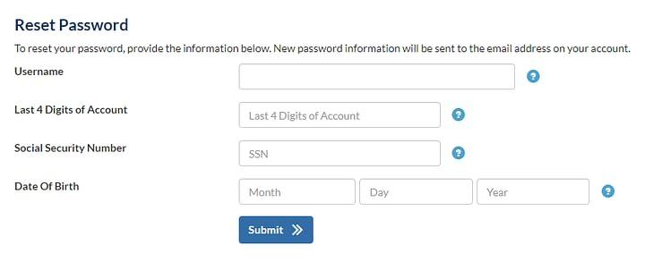 Reset My Indigo Login Password