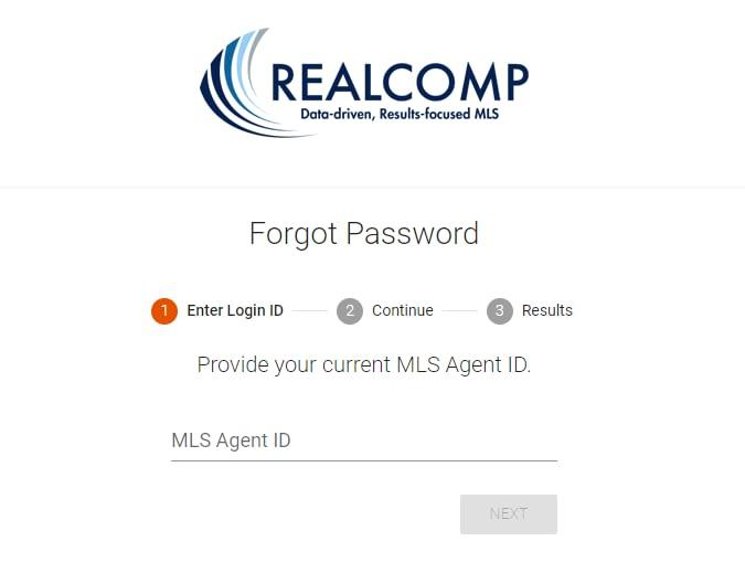 Reset Realcomp Login Password