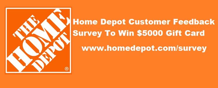 www.homedepot.com survey