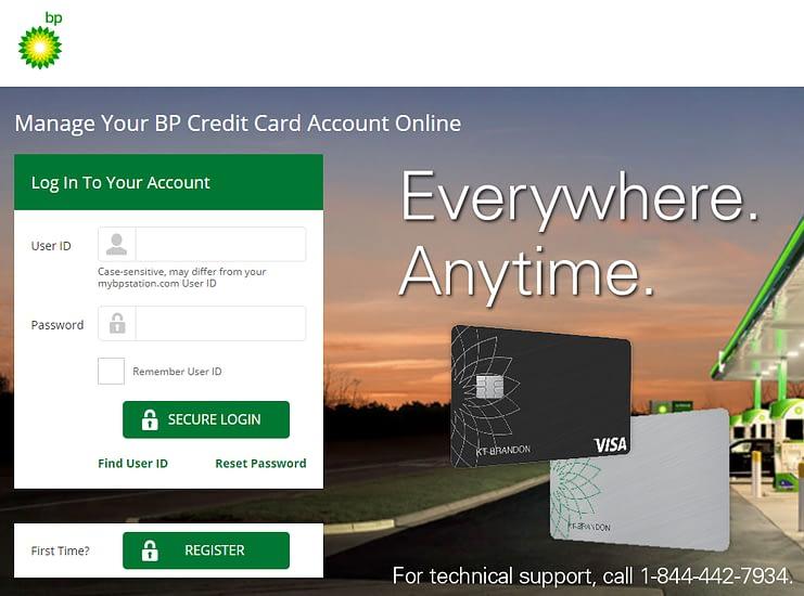 MY BP Credit Card Login
